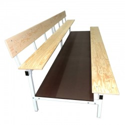 Stationary tribune with wooden benches -  for indoor use