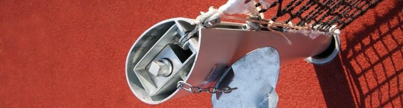 Elementy montażowe i akcesoria do tenisa ziemnego